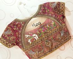 30 Latest Patch Work Saree Blouse Designs Patch work blouse designs are very attractive looking because of the work that they have. Patch work designs usually have layers of fabrics used to form different patterns and designs. Wedding Saree Blouse Designs, Pattu Saree Blouse Designs, Wedding Blouses, Patch Work Blouse Designs, Fancy Blouse Designs, Blouse Designs Catalogue, Stylish Blouse Design, Blouse Patterns, Sarees