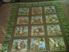 Quilt top that I just finished.  Think I'll use brown fleece to back it and probably a blue color for the binding.