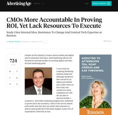 Great article from Ad Age about marketing executives' quest for metrics to determine returns on mobile & digital investments! See full article: http://adage.com/article/cmo-strategy/study-cmos-lack-internal-resources-prove-roi/295466/