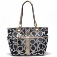 Coach Chelsea Op Art Business Bag Black-Silver U03004  74.00 http   www 81c7680b279ff