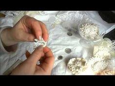 Romantic Shabbychic/Vintage Flower Tutorial - YouTube