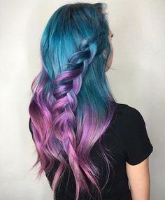 blue to purple