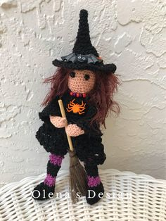 A personal favorite from my Etsy shop https://www.etsy.com/listing/552253439/halloween-crochet-witch-doll-tilda-decor