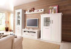 Home affaire Wohnwand »Garden«, mit Vitrine, Highboard, TV-Board und Wandregal (4-tlg.) ab 699,99€. FSC®-zertifizierter Holzwerkstoff bei OTTO