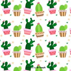 Cute Wallpaper Backgrounds, Flower Wallpaper, Cute Wallpapers, Iphone Wallpaper, Illustration Cactus, Gift Subscription Boxes, Textile Pattern Design, Summer Plants, Cute Disney Wallpaper
