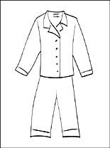 Download or print this amazing coloring page: Pajama