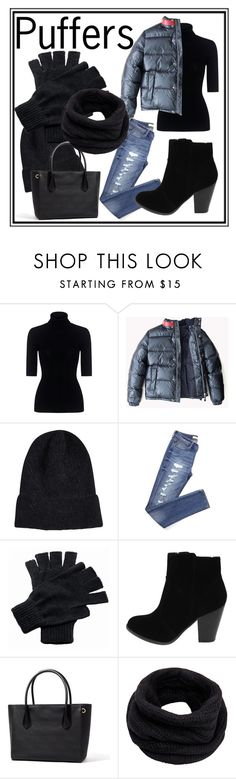 """I'll Be Back"" by calexasswoh ❤ liked on Polyvore featuring Theory, Regatta, Helmut Lang, black, mountain and puffers"