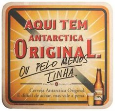Antarctica bolacha de chopp Cerveja Original