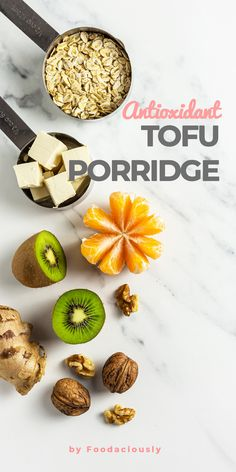 Our tofu oatmeal is a quick and healthy vegan breakfast idea. Each bowl gives you plant-based proteins, powerful antioxidants, and hunger-curbing fibres. tofu oatmeal,vegan oatmeal breakfast,vegan oatmeal without milk,tofu breakfast ideas,high protein oatmeal,antioxidant porridge #vegan #govegan #dairyfree #glutenfree #recipe #cooking #food Tofu Breakfast, Healthy Vegan Breakfast, Plant Based Breakfast, Breakfast Ideas, Protein Oatmeal, Vegan Oatmeal, Cooking Food, A Food, High Fibre