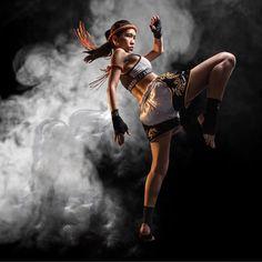 Muay Thai knee - Chompu K. Sriyotee