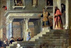 Тициан Вечеллио. Введение во храм Пресвятой Богородицы (фрагмент)