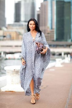 Shop caftan dresses sale from top brands. Save more on this season's caftan dresses collection from selected stores we trust! Look Fashion, Daily Fashion, Womens Fashion, Sydney Fashion Week, Mode Abaya, Caftan Dress, Fashion Articles, Spring Street Style, Style Summer