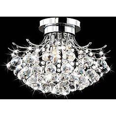 Indoor 3-light Chrome/ Crystal Chandelier - Overstock™ Shopping - Great Deals on Chandeliers & Pendants