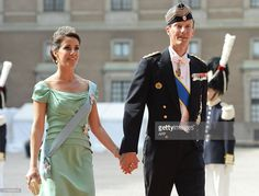 Prince Joachim and Princess Marie of Denmark arrive for the wedding of Sweden's Crown Prince Carl Philip and Sofia Hellqvist at Stockholm Palace on June 13, 2015. AFP PHOTO / JONATHAN NACKSTRAND        (Photo credit should read JONATHAN NACKSTRAND/AFP/Getty Images)