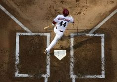PHOENIX, AZ - APRIL 06: Paul Goldschmidt #44 of the Arizona Diamondbacks looks up at his a solo home run against the San Francisco Giants during the first inning of the Opening Day game at Chase Field on April 6, 2012 in Phoenix, Arizona. The Diamondbacks defeated the Giants 5-4. (Photo by Christian Petersen/Getty Images)