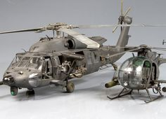 MH-60L (Academy 1/35) AH-6J (Dragon 1/35)  by Jorge Oppenheimer