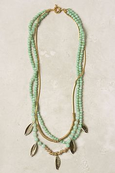 Minted Layer Necklace - Anthropologie.com-inspiration-good use of all my asst. gold leaf components