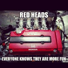 Vtec babes! (; Red heads. Everyone knows they are more fun :)