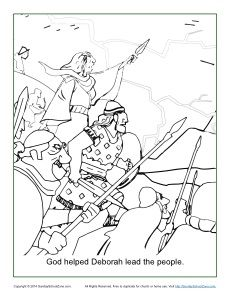god helped deborah lead the people coloring page bible coloring pageschildrens
