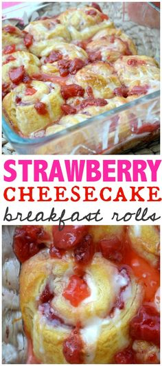 Strawberry Cheesecake Breakfast Rolls & Celebrating Mothers Day - Make The Best of Everything #ad #hallmarkformom @walmart