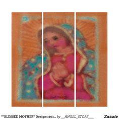 """""BLESSED MOTHER"" Design©2016CaroleTomlinson Triptych"