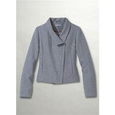 SOMEWHERE Woolcloth Blouson Jacket with Stand-Up Collar Light grey