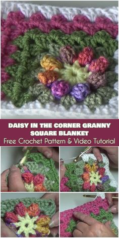 Mitered Daisy Granny Squares Blanket Free Crochet Pattern and Video Tutorial Sp. Mitered Daisy Granny Squares Blanket Free Crochet Pattern and Video Tutorial Spectacular daisies i Granny Square Crochet Pattern, Crochet Blocks, Crochet Squares, Crochet Granny, Crochet Motif, Free Crochet, Crochet Patterns, Blanket Crochet, Granny Square Häkelanleitung