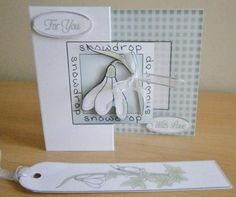 snowdrop handmade cards - Google Search