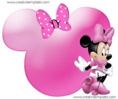 Topper para bolo Minnie rosa