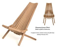 we have 2 of these. they have great support and are pretty comfortable. Outdoor Dining, Outdoor Chairs, Outdoor Decor, Types Of Folds, Outdoor Loungers, Wood Folding Chair, Outside Seating, Outdoor Furniture Plans, Teak Wood