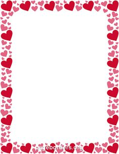 Red and Pink Heart Border