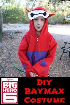 DIY BayMax Halloween Costume is an easy sweatshirt costume  for your little big hero 6 fan.