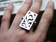 """Necklace and Ring, Sterling silver, Made to order in your size,  convertible, 2 in 1, """"Metamorphosis"""""""