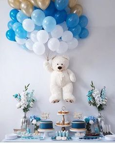 Baby Shower Balloons – An Easy & Cost Effective Way To Creat.-Baby Shower Balloons – An Easy & Cost Effective Way To Create A Fabulous Baby Shower Baby shower balloons are amazing decorations for a girl, boy, and neutral showers. Baby Shower Wall Decor, Deco Baby Shower, Shower Bebe, Baby Shower Balloons, Girl Shower, Baby Shower Boys, Baby Shower Ideas For Boys Decorations, Boy Baby Showers, Baby Shower Balloon Decorations