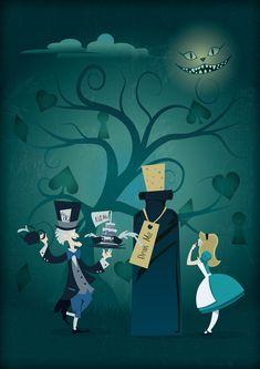 Alice in Wonderland #illustration #alice #wonderland