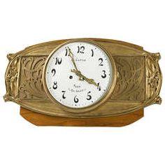 Hector Guimard French Art Nouveau Bronze Wall Clock.