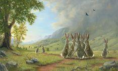 Robert Bissell - Contemporary fine art and prints Bunny Art, Bunny Bunny, Rabbit Art, Illustration, Fantasy Art, Art Gallery, Fine Art, Art Prints, Drawings