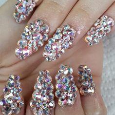 Nails Nail Art Crystal Beauty Designs