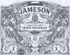 Jameson Irish Whiskey St. Patricks Day 2013 Label Design | By David Adrian Smith