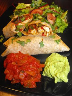 Chicken and black bean chimichangas