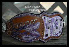 "custom hand painted ""Dreamer"" bronc noseband"
