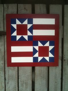 Painted Wood Barn Quilt Star & Stripes by TheBarnQuiltStore, $65.00