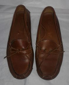Men's Cole Haan Gunnison Driver Moccasin US 8.5D Brown Moc Loafer Leather #ColeHaan #LoafersSlipOns