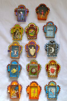 Mexican altar boxes matchbox size mixed media collage for traditional mexican decor or gifts to friends and family frida kahlo inspired decor