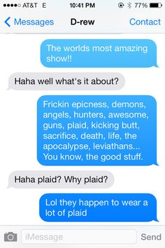 Explain supernatural to your friends... It's harder than it looks!!