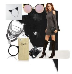 """""""Halloween OOTD"""" by mei-mei-1 on Polyvore featuring Kate Spade, Fendi, Alexis Bittar and American Eagle Outfitters"""