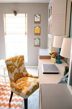 Bright And Colorful Office Playroom Combo