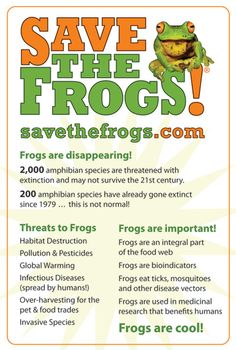 By the numbers for Save the Frogs Day!