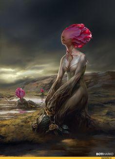 Мрачные картинки,красивые картинки,Fantasy,Fantasy art,art,арт,Boti Harko,Тёмное фэнтези