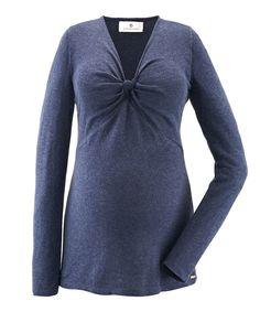Dark Blue Knot Signe Maternity Top    So pretty!